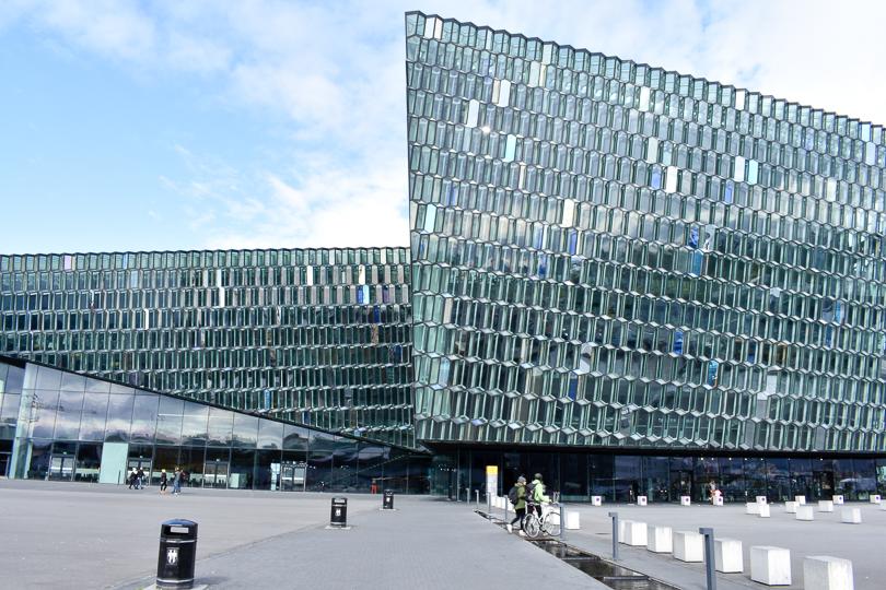 Bild vom Konzerthaus Harpa in Reykjavík