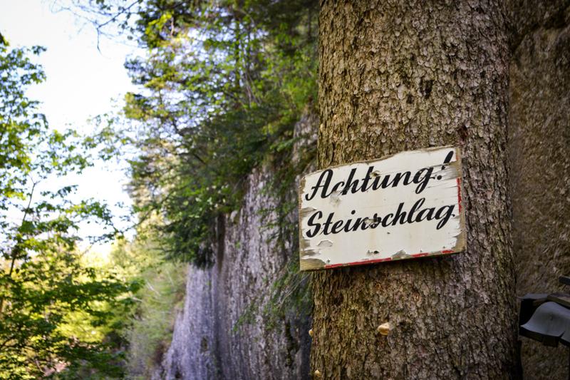 Achtung Steinschlag
