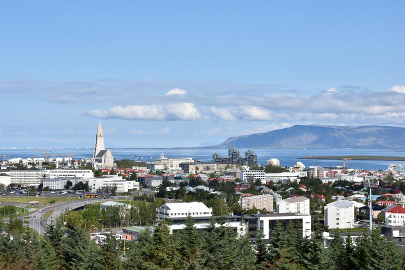 Ausblick auf Reykjavik