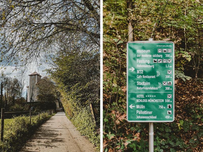 Foto: Weg am Mönchsberg