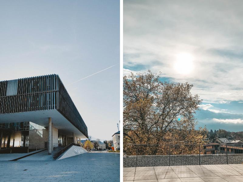 Foto: Bild vom Unipark und Dachterrasse