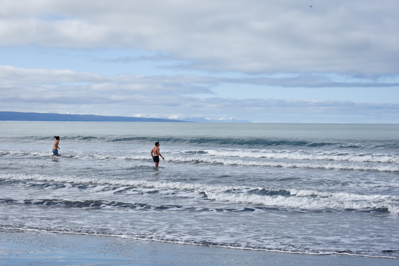 Swimming in the Arctic Ocean