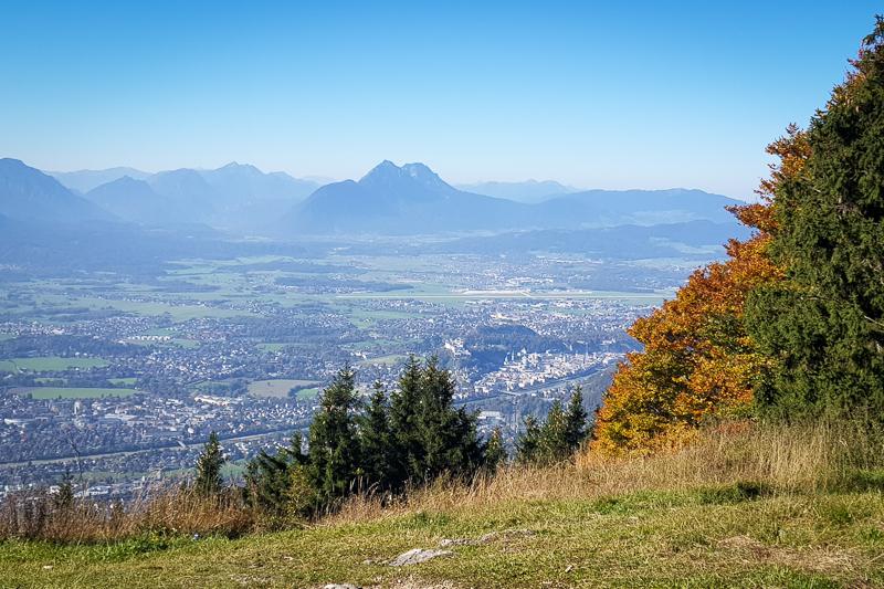 Foto: Blick vom Gaisberg auf Stadt Salzburg