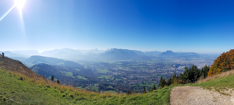 Foto: Panoramablick vom Gaisberg auf Stadt Salzburg
