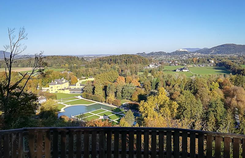 Foto: Blick auf Hellbrunn