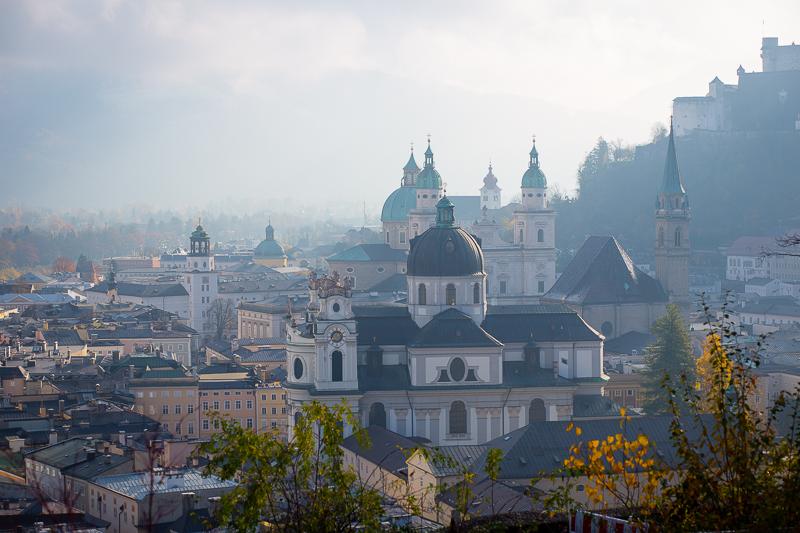 Foto: Blick vom Museum der Moderne auf Salzburg