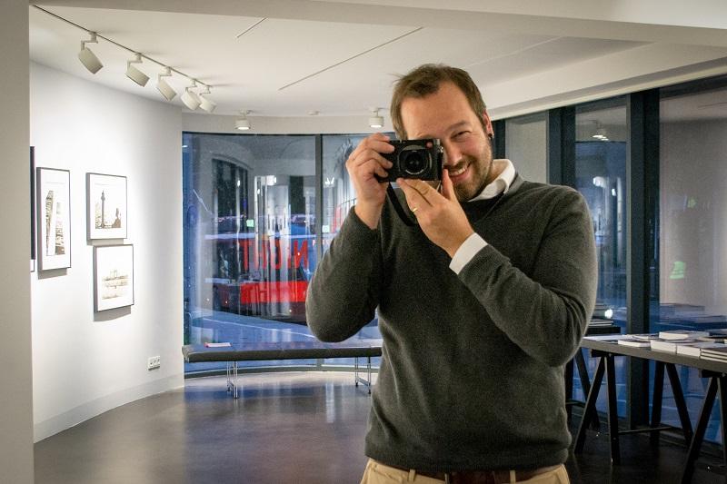 Fotograf und Dozent Marc Stickler in der Leica Galerie