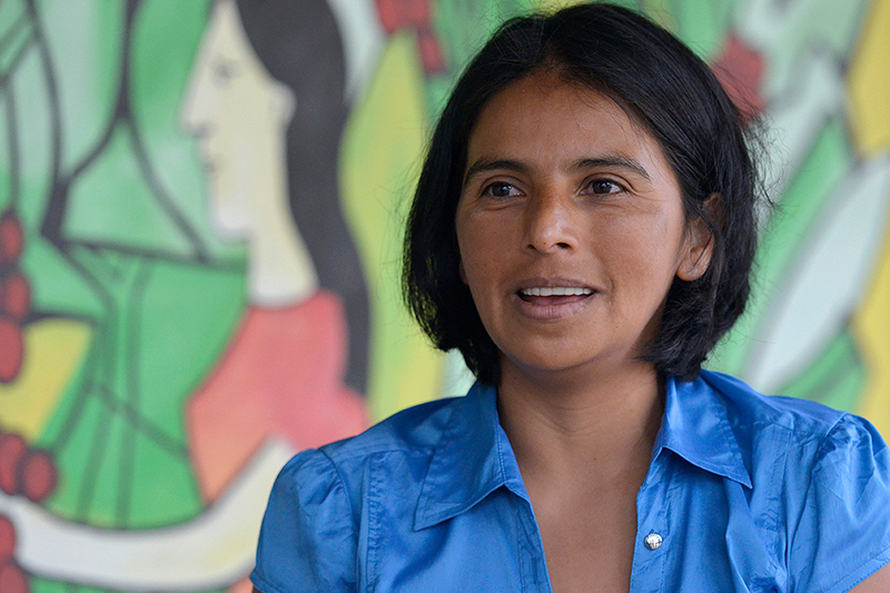 Foto: Portrait von Kaffee-Expertin Dolores Benita Espinoza