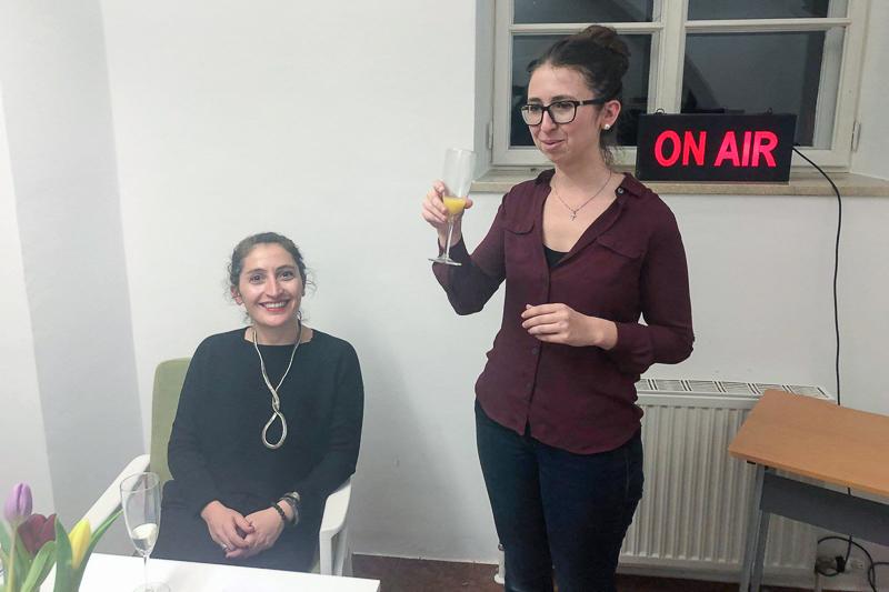Prof. Zoe Lefkofridi beim Women in Science Club-Treffen