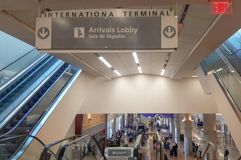 The Arrival Lobby of the Hartsfield-Jackson International Airport