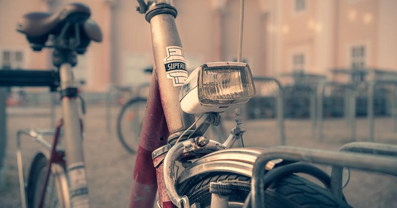Altes Fahrrad in der Salzburger Altstadt