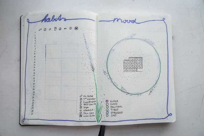 Ebenfalls im Lavendel-Theme ist mein Habit & Mood Tracker gestaltet.