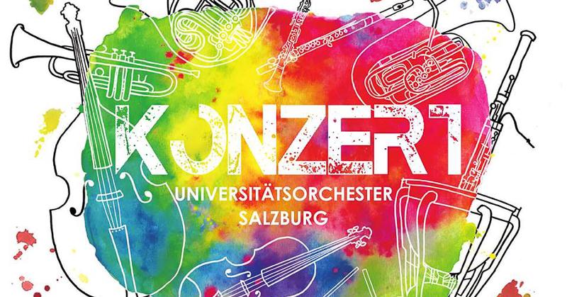 Buntes Banner des Sommerkonzerts