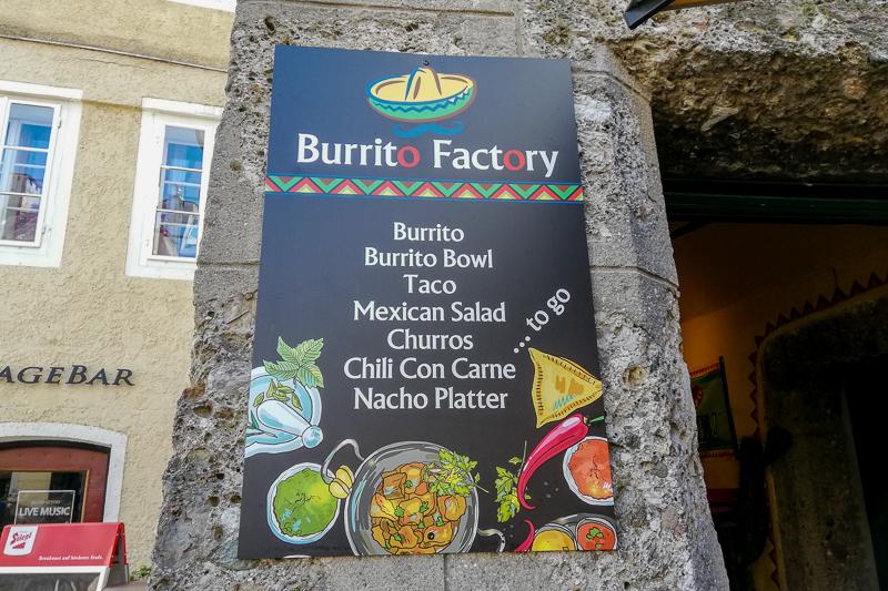 Restaurant Karte Burrito Factory