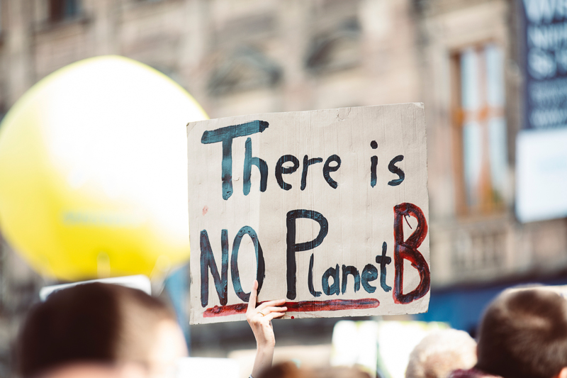 Klimawandel und Nachhaltigkeit Demonstranten