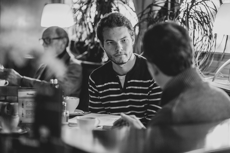 Redakteur im Gespräch mit Tobias Pötzelsberger