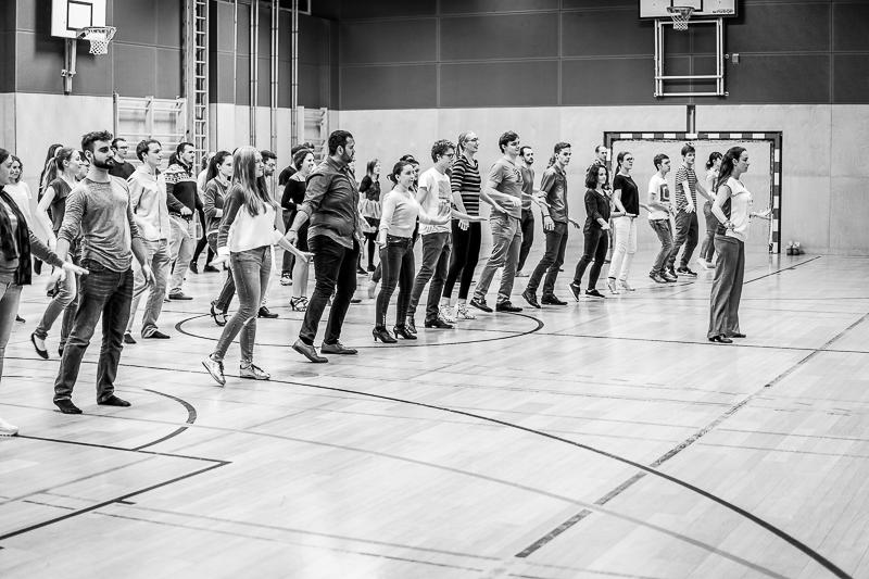 Tanzkurs. Moderne Choreographie