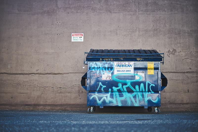 Lebensmittelverschwendung Müllcontainer