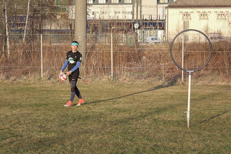 Quidditch Spieler am Feld