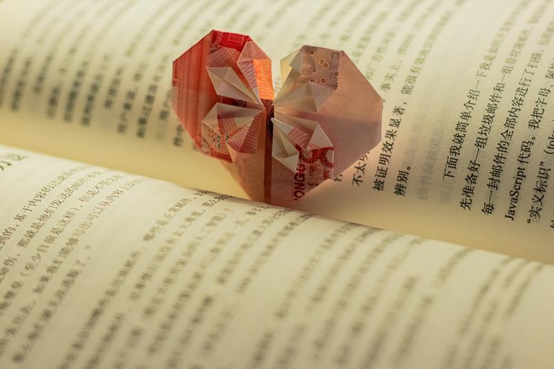 Origami falten: Herz