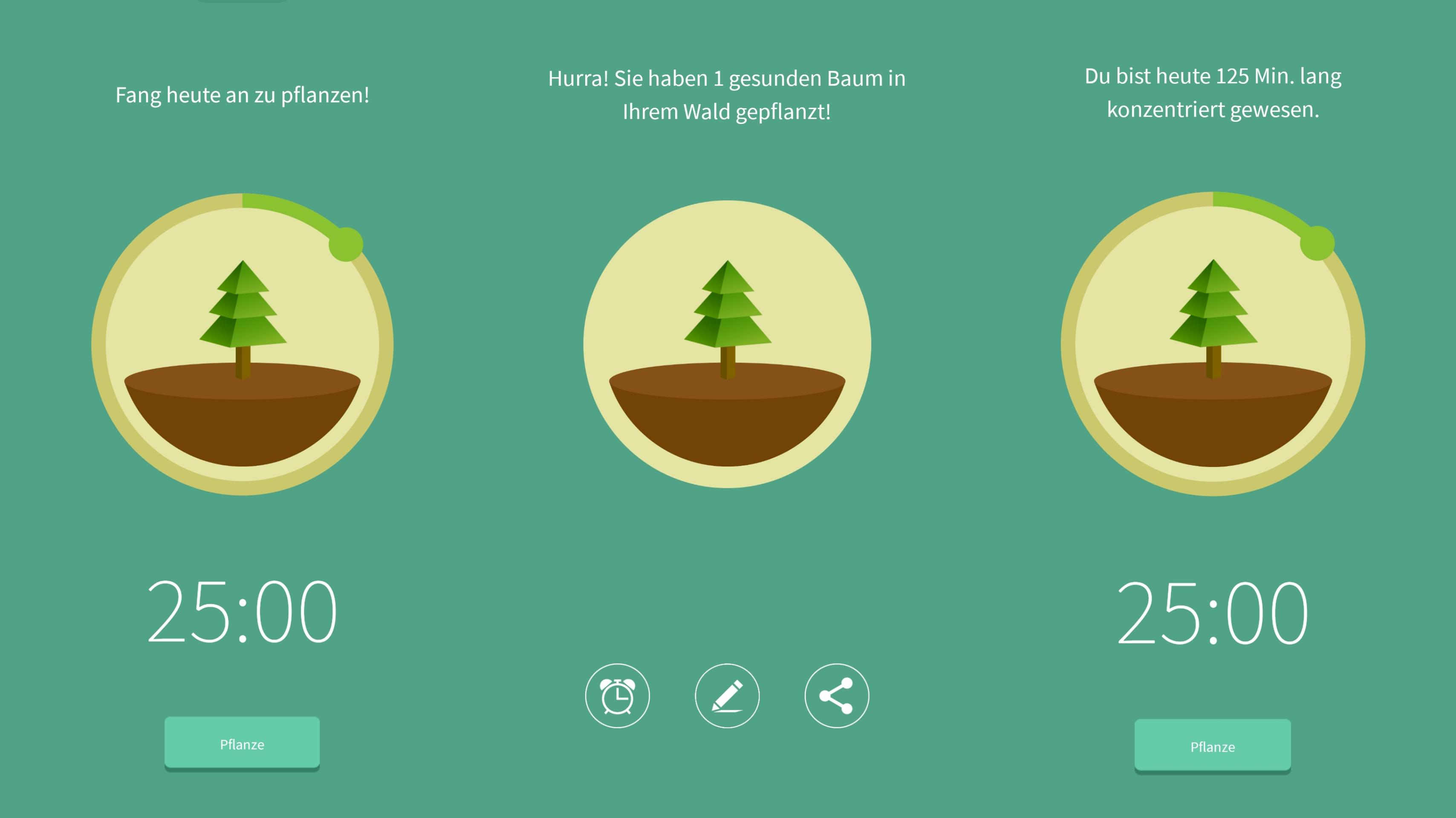 Screenshot der App Forest