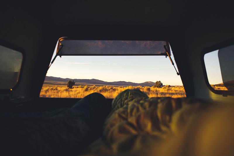 Aussicht vom Campingbus